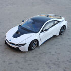 BMW I8 124 Model Cars Toys CollectionGifts Front Steering White Alloy Diecast