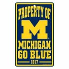 NCAA University of Michigan Wolverines 7x12 inch Plastic Champ Property Sign