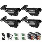 ZOSI 4 Pack 1000TVL 960H indoor outdoor Day Night Vision Weatherproof 42pcs IR I