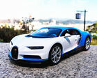 Bburago 124 Bugatti Chiron Diecast Metal Model Roadster Car Vehicle Blue White