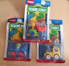 Lot 3 COUNT Car Cookie Big Bird Oscar Die Cast Metal Sesame Street Playskool
