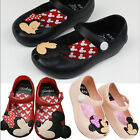 Kids Girls Summer Cartoon Mickey Mouse Soft Sandals Toddler Jelly Rubber Shoes