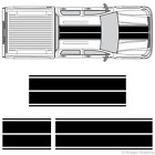 Chevy Silverado Sierra Dual Rally Racing Stripes 3m Vinyl Double Stripe Decals