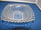 Vintage Clear Glass Small Candy Dish Bowl Square w/ Bubble Design Mint Nuts
