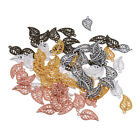 75pcs Antique Alloy Metal Leaves Charm Pensant for Bracelet Necklace DIY