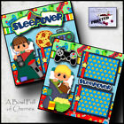 SLEEPOVER boy video games 2 Premade Scrapbook Pages paper printed BY CHERRY