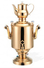 BEEM Katharina I Stainless Steel Samovar 15 Liters Gold Plated. 220 Volts.