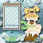 FROSTY FUN WINTER SNOW 2 Premade Scrapbooking Pages paper piecing BY CHERRY