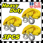 10FT 2 X 10 Yellow Rope Heavy Duty Tow Strap with Hooks 6600 Lb Capacity