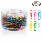 500 Colorful Office Document Paper Clips Pins Binder Stationery Holder 33mm