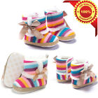 2017 Newborn Toddler Kid Baby Snow Booties Soft Sole Warm Cute Boots Crib Shoes