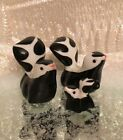 3 Vintage Bone China Miniature Skunk Figurines Ceramic Porcelain Forest