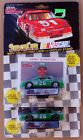 (2) NASCAR RACING CHAMPIONS KENNY BERNSTEIN STOCK CAR COLLECTOR CARD AND STAND