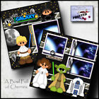 DISNEY STAR WARS 2 premade scrapbook pages paper printed layout boy girl CHERRY