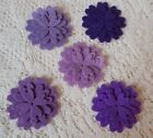 Felt Flower Die Cuts Purple Mist 5 Full Flowers 15 pieces Acrylic Felt
