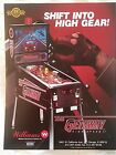 Williams The GETAWAY High Speed II Original 1992 NOS Pinball Machine Sales Flyer