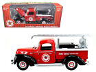 1940 Ford Fire Truck Texaco Red 118 Diecast Model 0608