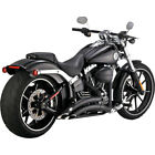 Vance  Hines Black Big Radius Exhaust for 2013 2017 Harley Softail Breakout
