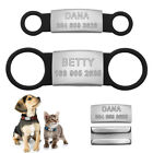 Personalized Slide On Dog ID Tags Stainless Steel No Noise Pet Cat Collar Tags