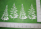 4 WOODLAND TREES paper die cuts scrapbook cards embellishments CL