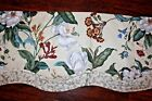 Williamsburg Waverly Garden Images Magnolia Floral Scalloped Valance Never Used