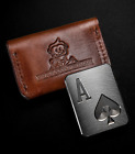 MuckMonkeys Poker Card Protector Casino Chip Ace of Spades Case Included