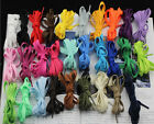 Sneaker SHOELACES Many Colors shoe lace strings FLAT Athletic 27 36 45 54 Inch