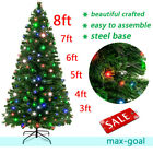 3 8 ft Pre lit LED Artificial Christmas Tree Fiber OpticHoliday Dcor w Stand