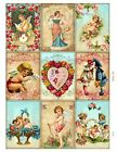 9 Victorian Valentine Hang Tags ATC Scrapbooking Paper Crafts 245