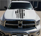 Distressed Torn Worn Hood Decal USA Flag fits DODGE RAM CHEVY FORD JEEP