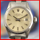 PERFECT LADIES ROLEX OYSTER PERPETUAL DATE AUTOMATIC ALL ORIGINAL LADIES WATCH