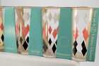 8 Vintage Libbey Pink Black White Diamonds Drinking Glasses New in Boxes