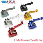 CNC Fluid Reservoir Tank Oil Cup + Bracket Universal Motorcycle Brake Clutch USA