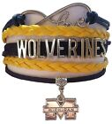 University of Michigan Wolverines College Infinity Bracelet Jewelry Apparel