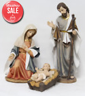 3 Piece Nativity Figurine Set Christmas Decor Outdoor Yard Decoration Home Jesus