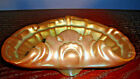 Zsolnay Pecs Iridescent Eosin Green Gold SHELL DISH, Hungary, Jubilee Mark