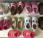 LOT Of Baby Girl Shoes Newborn Through Size 2 Eight Pair of Shoes Carters