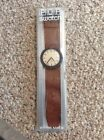 Vintage Swatch 1993 Pop ,brown Leather Band