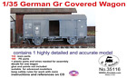 LZ Models 1:35 German Resin Railway RR Gr Covered Wagon #35116