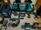 Makita lxt set, Jigsaw, Drill, Circular saw, Planer, Sander, Torch, Radio, Bag