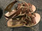 Daisy fuentes brown Strappy Gladiator sandals Size 85 M
