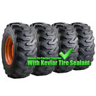Set Of Carlisle 10x16.5 Trac Chief Xt Skid Steer Tires And Wheels - Bobcat