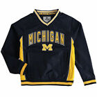 Colosseum Michigan Wolverines Youth Navy Fair Catch Windbreaker Jacket