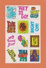 VINTAGE 80s MELLO SMELLO PUNCH LINES SNIFF STICKERS Great Scent