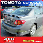 09 13 Toyota Corolla Rear Trunk Spoiler Painted 1F7 CLASSIC SILVER METALLIC