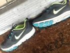 Nike black and neon training tennis shoes size 75