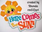 HERE COMES SUN SUMMER title paper piecing for Premade Scrapbook Pages by Rhonda