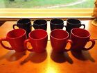 8 CORELLE CLASSIC CAFE COFFEE MUGS 4 RED & 4 BLUE