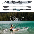 Crystal Kayak Transparent See Through Lexan Clear Canoe Kayak 1 or 2 Person