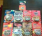 Lot of 9 Racing Champions, Winner Circle Die Cast Collectible Car Replicas.